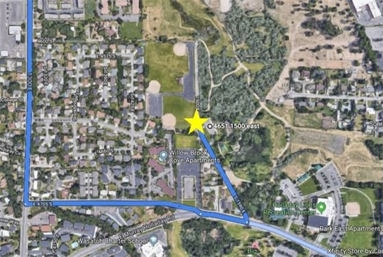 Directions Map for Big Cottonwood Park Clean-up project