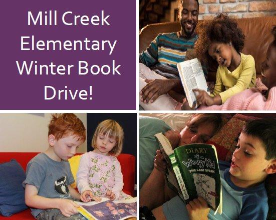 Mill Creek Elementary Winter Book Drive