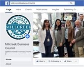 Screen shot of Millcreek Business Council Facebook page