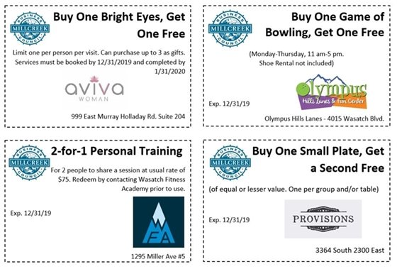 Aviva Coupon, Olympus Hills Coupon, Wasatch Fitness Academy Coupon, Provisions Coupon
