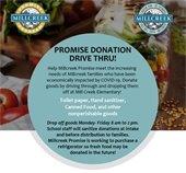 Millcreek Promise Donation Drive Through