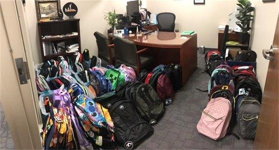 C. Kay Cummings Donated Backpacks