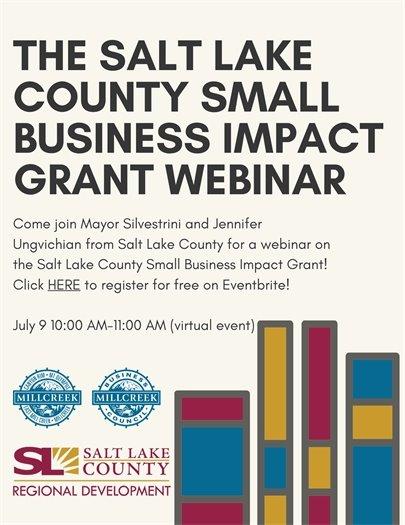 The Salt Lake County Small Business Impact Grant Webinar