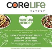CoreLife Special Promotion For Frontline Heros