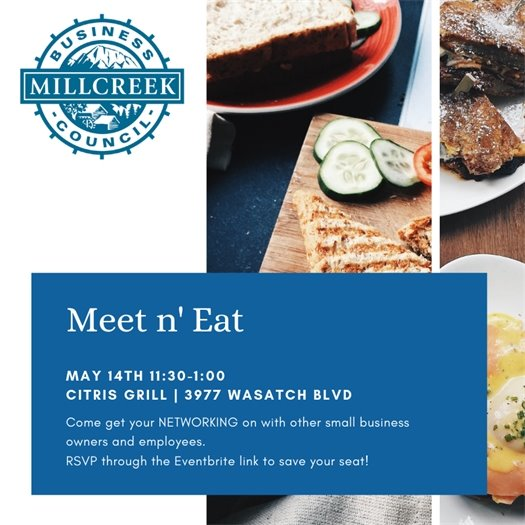 May Meet n' Eat event flyer