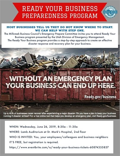 Ready Your Business Program flyer