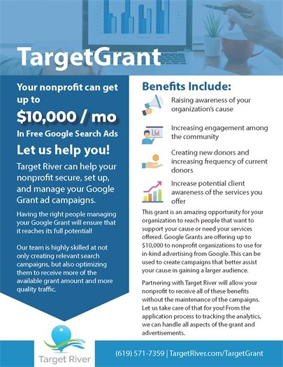 Target Grant for businesses from Target River