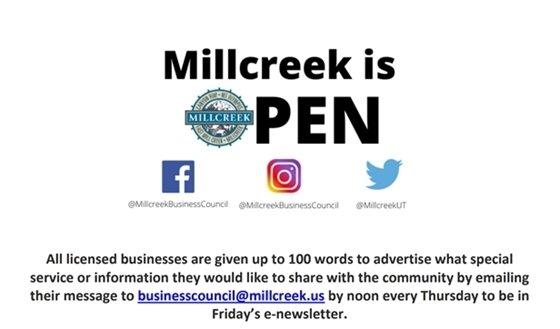 Millcreek is Open
