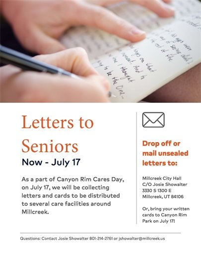Letters to the Elderly Service Project
