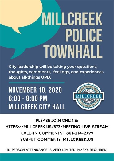Millcreek Policing Townhall