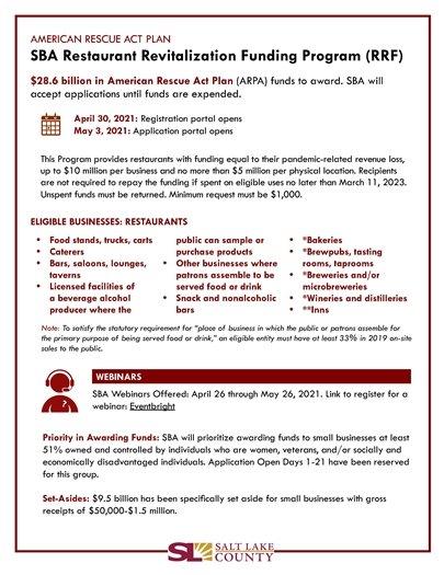 Restaurant Revitalization Funding Program