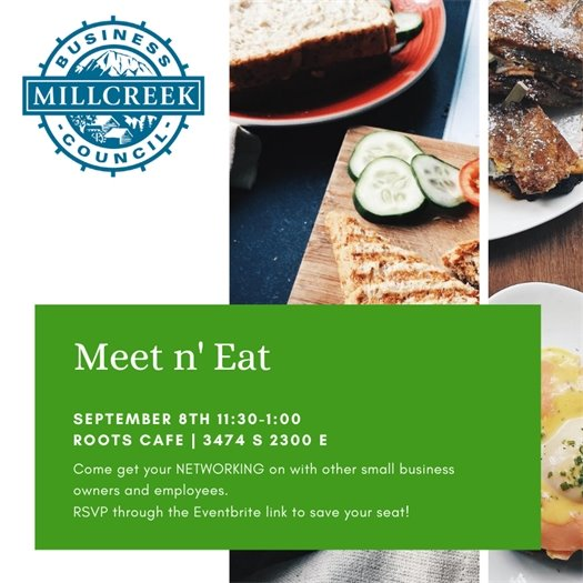 Meet n' Eat today at Roots Cafe!