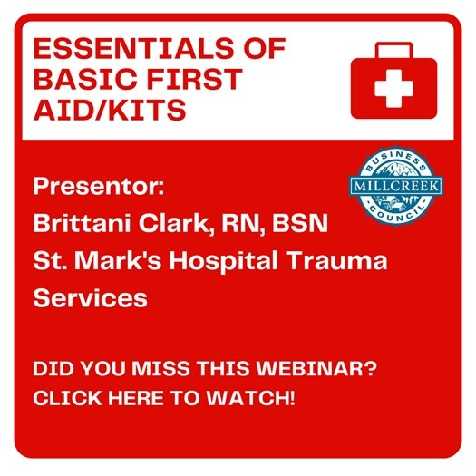 Did you miss the webinar on first aid kits? Click the picture to watch the recording!