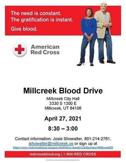 Millcreek Business Council Blood Drive