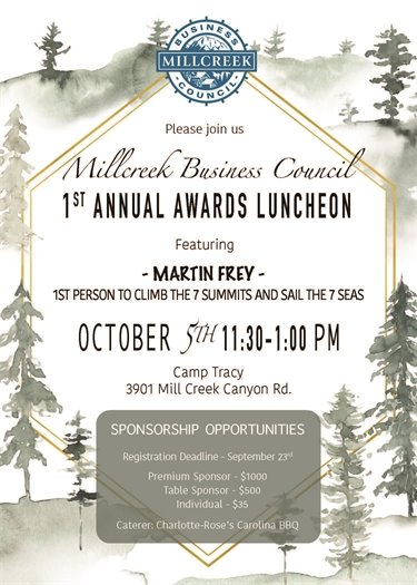 1st Annual Awards Luncheon On Tuesday October 5!