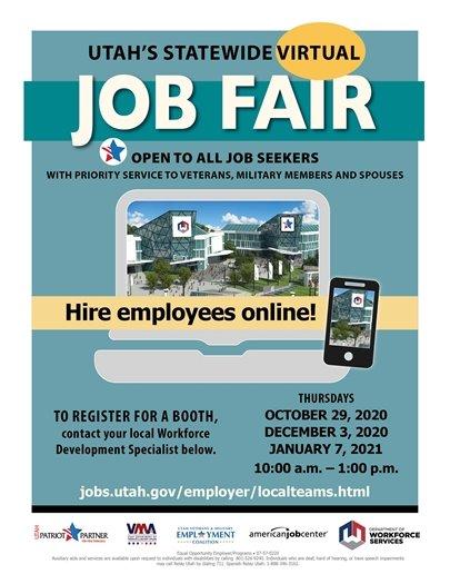 Be part of the next virtual job fair!