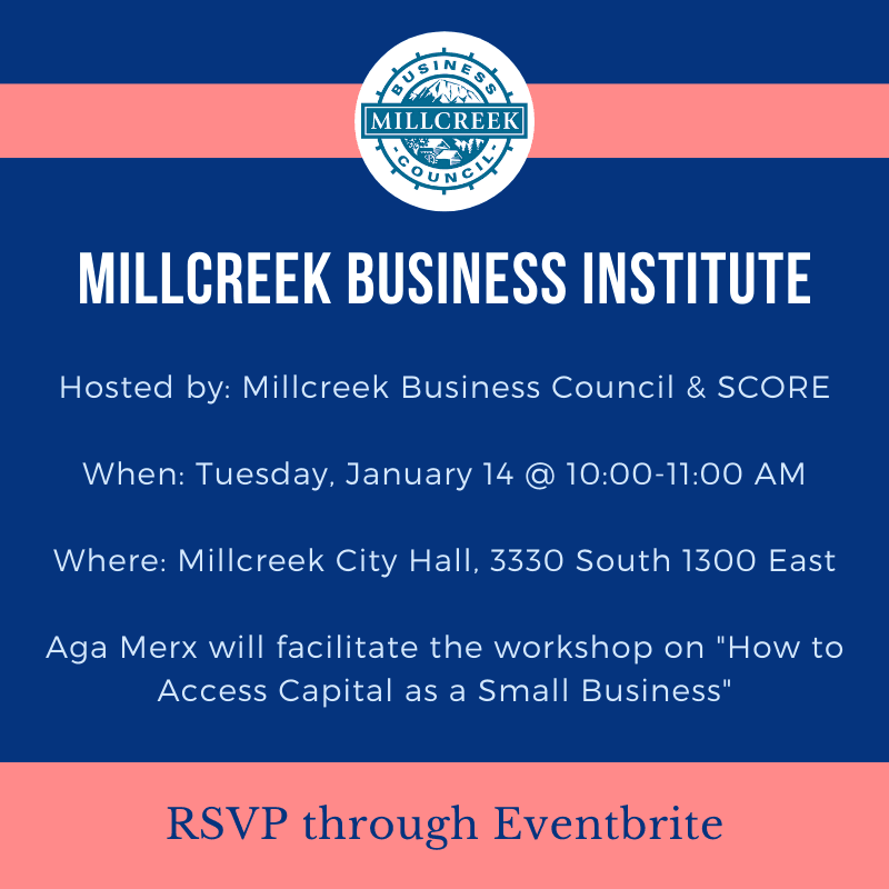 Millcreek Business Council Institute Jan 14 @ 10