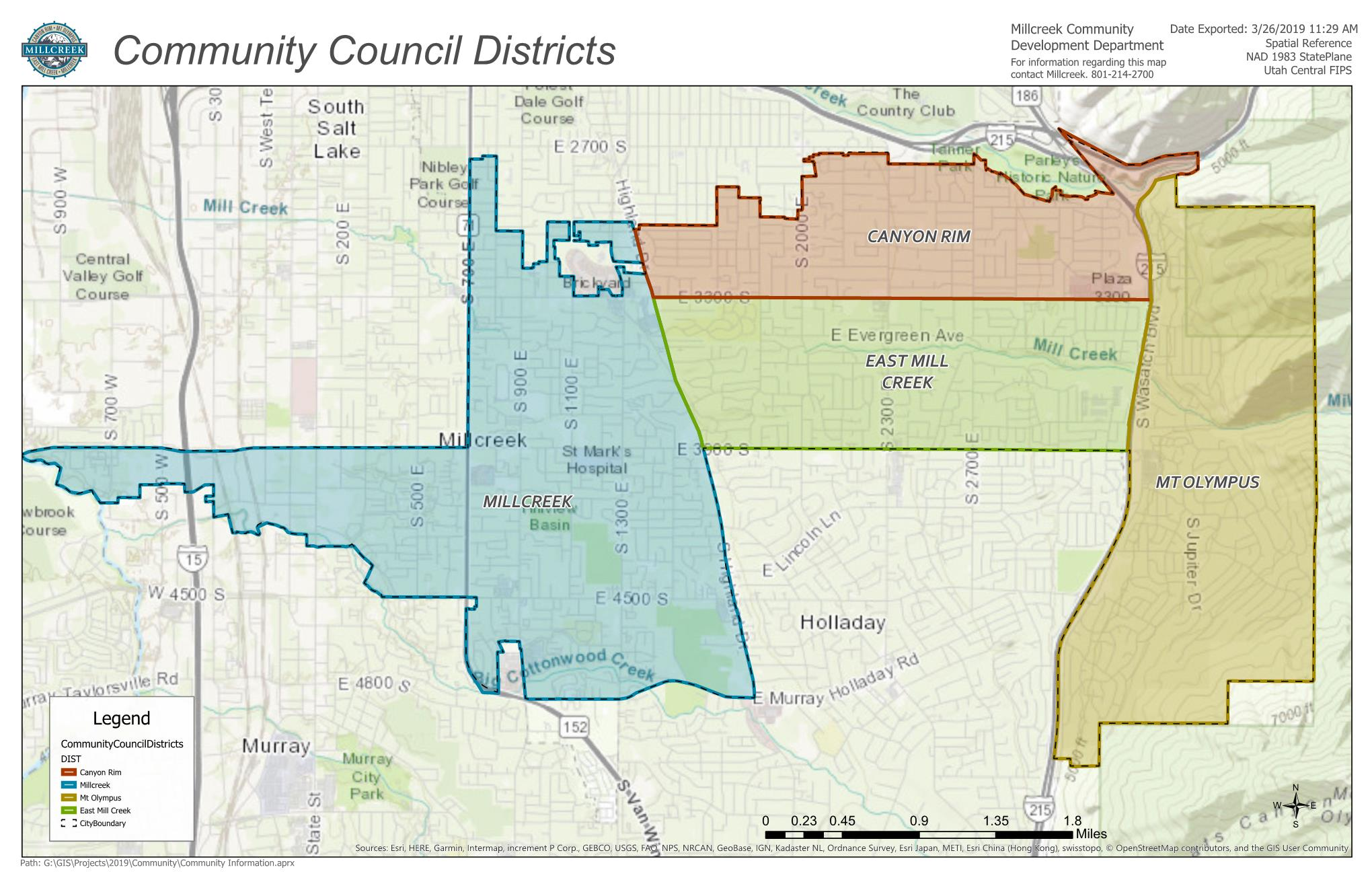 Community Council Districts