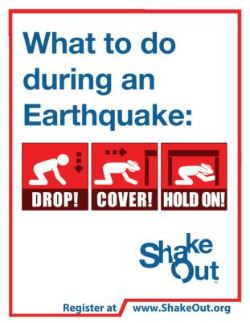 Drop Cover Hold On Earthquake Information