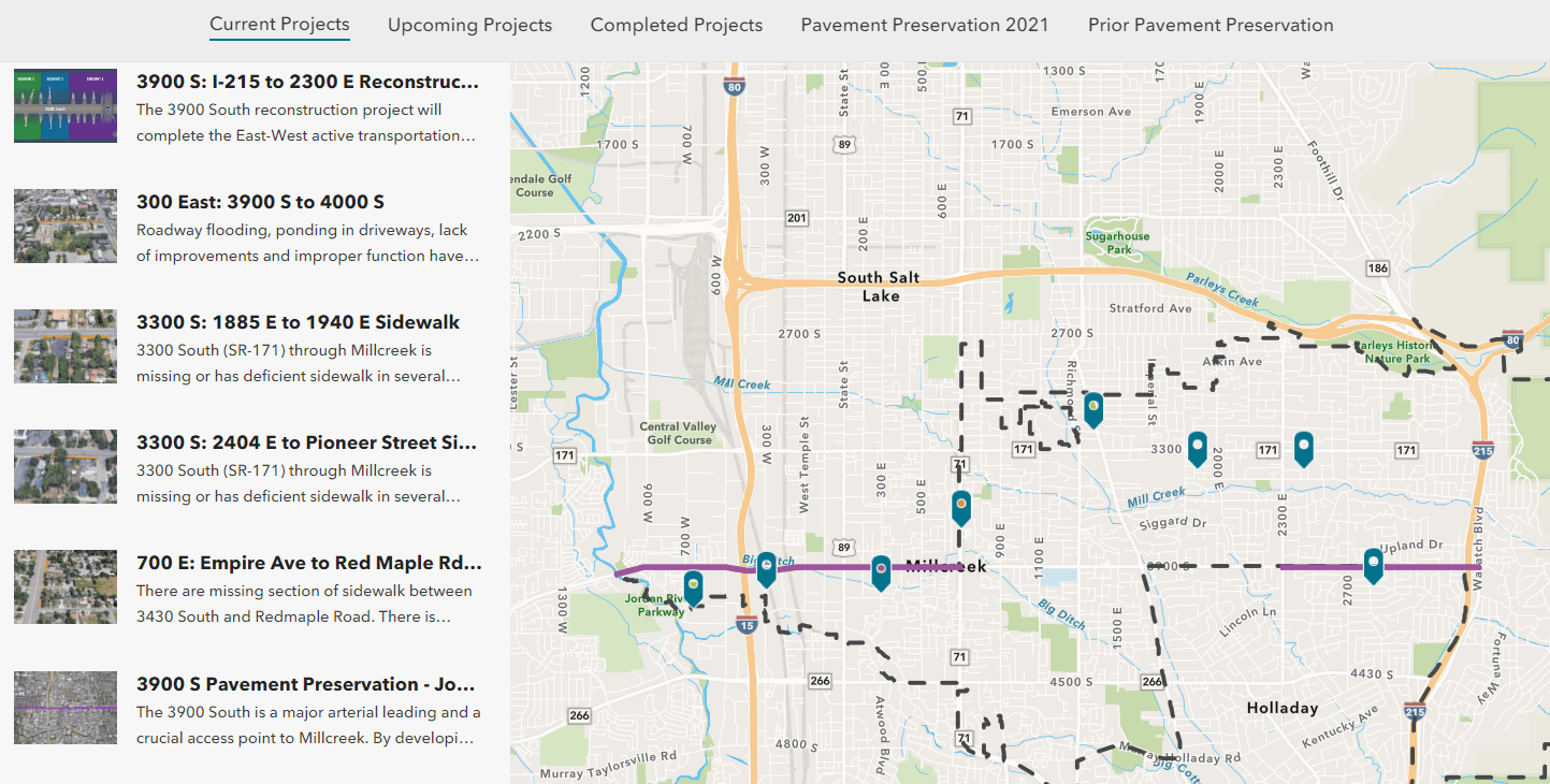 Capital Improvements Map