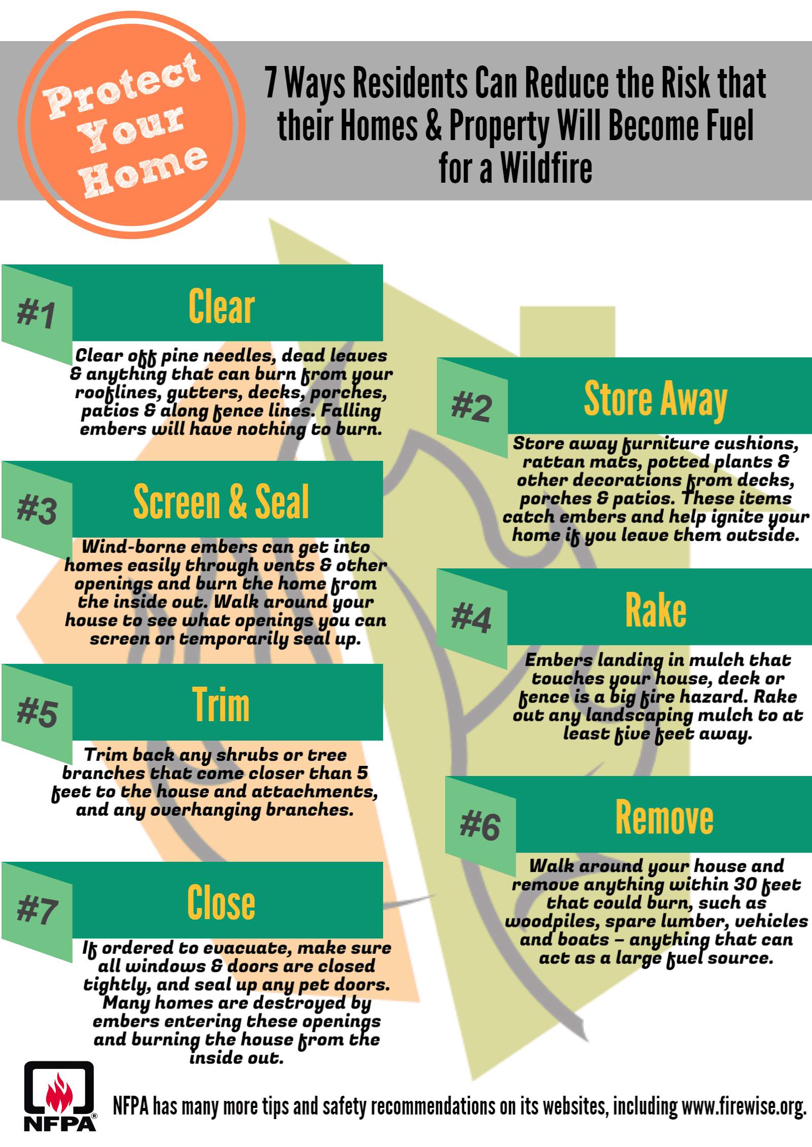 7 Firewise Tips infographic