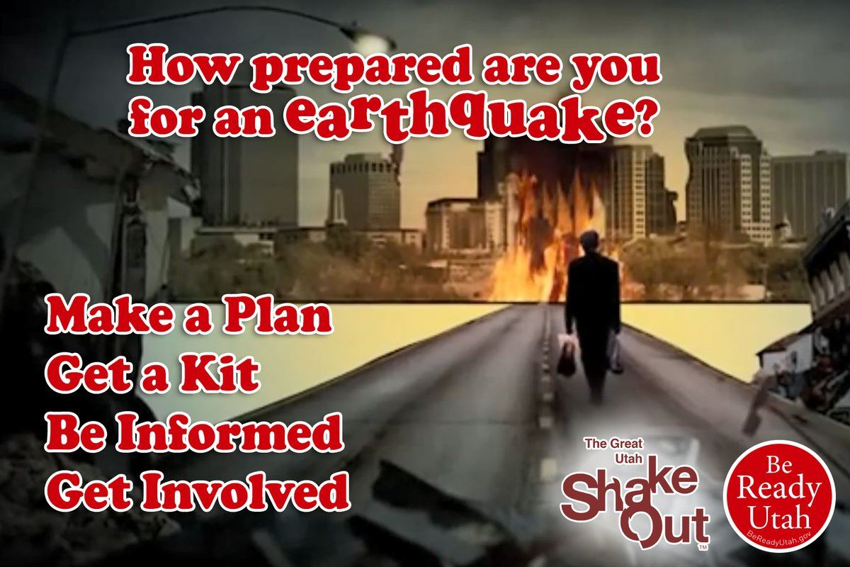 Earthquake preparedness image Be Ready Utah The Great Utah ShakeOut